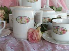 Romantikus rózsás kávéskészlet ,,4 főre ,,