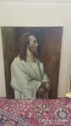 Munkácsy után ism. festő: Krisztus Pilátus előtt / másolat/