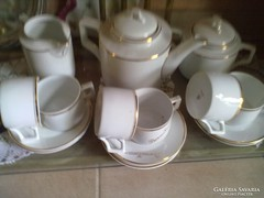 Szépséges hófehér  zsolnay teás, vagy csokoládézó készlet