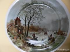 Holland porcelán falitányér
