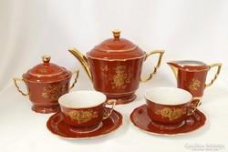 Ritka Zsolnay 2 sz. teás készlet