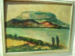 Palicz József Balatoni tájkép  / Balatonpart/