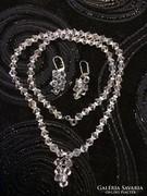 Álomszép kristály nyakék fülbevalóval ezüst szerelvényekkel