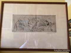 Borsos Miklós grafika - Firenze