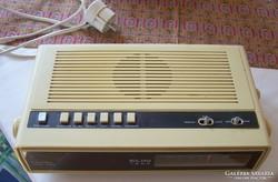 ELIN 1220 régi, osztrák ébresztős rádió ( ritka )