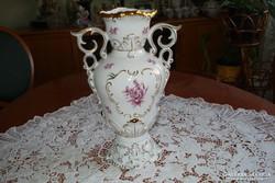 Hollóházi ritkamintás barokk váza