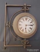 Vintage, kültéri óra ( dupla szerkezet) Majdnem fél méter!