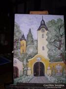 Kolostor című festmény közvetlenül a festőtől, Lehoczky