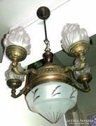 Antik puttós bronz csillár 5+1 karú