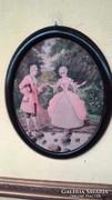 Akvarell, romantikus jelenettel I.