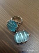 Osztrák ezüst gyűrű medállal