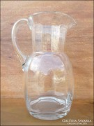 Régi bordázott üveg kancsó , vizeskancsó , boroskancsó