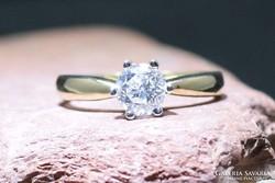 Gyémánt gyűrű - 0,8 ct gyémánttal