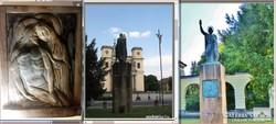 Híres szobrászunk súlyos bronzdomborműve: A XIII. Stáció !!!