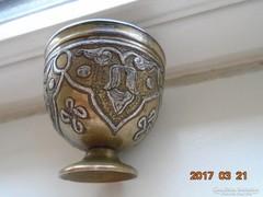 MAMLUK ZARF-perzsa-iszlám-ezüstberakásos-kávés pohár tartó-2