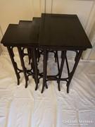 Thonet 4 db-os asztal garnitúra