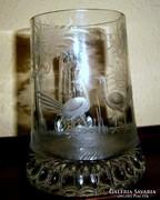 Csiszolt  üveg korsó