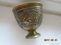 MAMLUK ZARF-perzsa-iszlám-ezüstberakásos-kávés pohár tartó-3