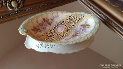 Antik Áttört Zsolnay Dísztál-Asztalközép