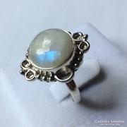 Holdkő gyűrű ezüst foglalatban