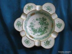 Herendi porcelán indiai kosár/kosaras hamutartó/hamutál