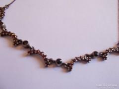 Béke időbeli antik ezüst gránátköves nyaklánc