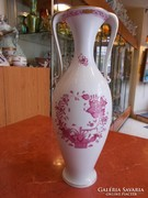 Indiaikosaras Herendi porcelán díszváza