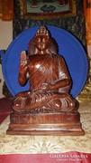 Buddha faszobor: Áldó Buddha rózsafából gyönyörű 30 cm
