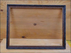 Antik képkeret , fekete - bordó ,  falc 44,5 x 34   cm.