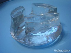 Art decó üveg míves egyedi gyertya tartó U10