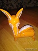 Ritka kerámia róka figura, iparművészeti termék
