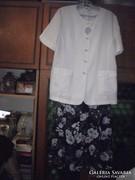 Nyári alkalmi len kosztüm ruha molett 48 szoknya és felső