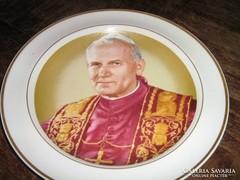 Hollóházi porcelán vallási dísz tányér