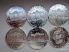 Bécsi filmharmonikusok 1uncia 0.999Ag 2011,2016 ezüst érme