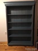 Ónémet fenyő könyves szekrény vintage stílusban