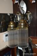 2 darab felújított üvegpálcás falikar