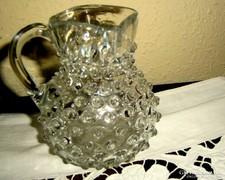 Antik bütykös keresztelő  kancsó- szakított üveg