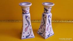 Art Deco porcelán gyertyatartó párban