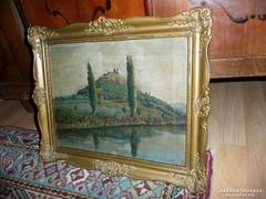 Antik festmény eladó szép blondel keretben 54*40 cm