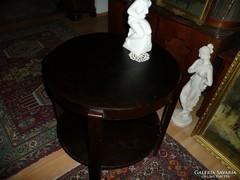 Kerek Art Deco asztalka gyönyörű állapotban 1930-ból