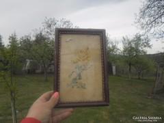 Régi kép virágos