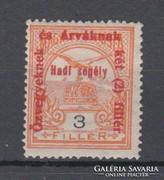 1915 Hadisegély II. 3 Fillér falcosan (A090)