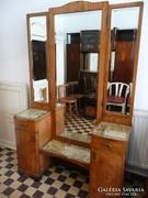 Antik szecessziós allótükör / fésülködő szekrény eladó