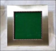 Antik vastag ezüst keretes támasztékos képkeret súly 250 gr.