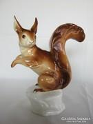Royal Dux porcelán nagy mókus