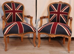 Angol zászlós neobarokk fotelek!