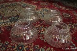 4 darab lámpa üveg búra