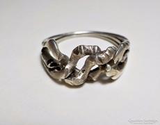3 részes ezüst gyűrű, összerakós