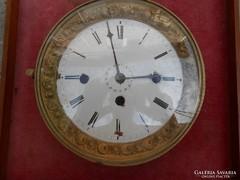 Nagyméretű barokk(biedermeier) kandalló óra szerkezet