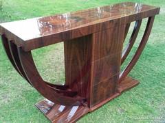 Art-deco paliszander konzolasztal ( Ritka szép egyedi)